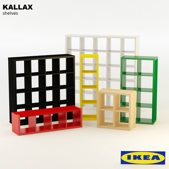 Ikea Kallax Shelves - 3DOcean Item for Sale