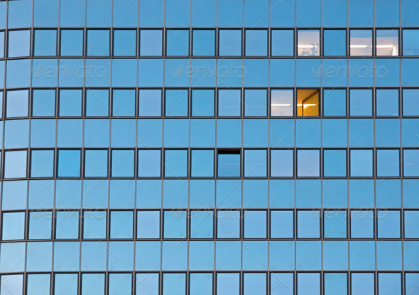 Facade of an office building - Stock Photo - Images