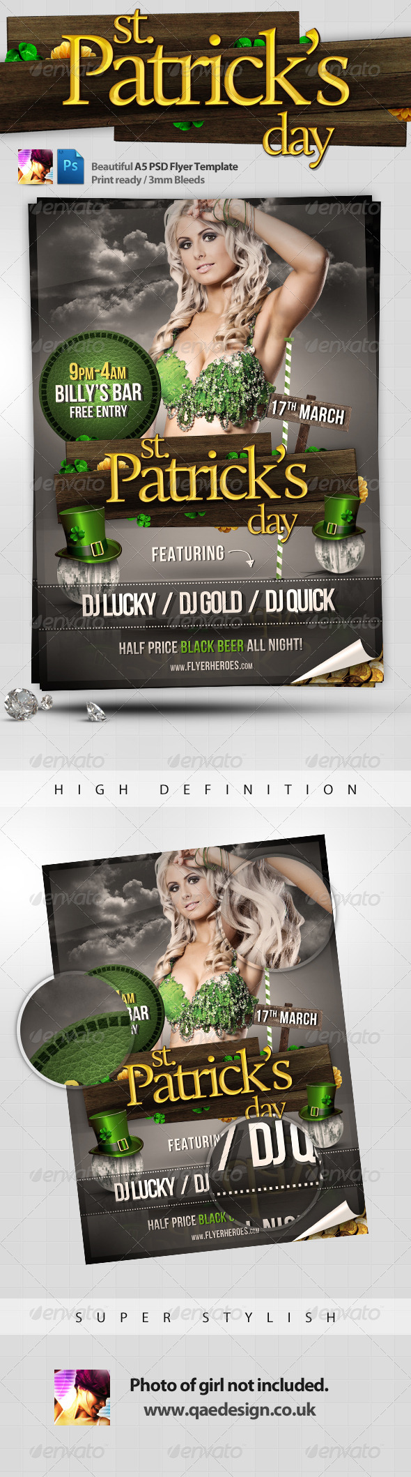 St. Patrick's Day Flyer Template - Holidays Events