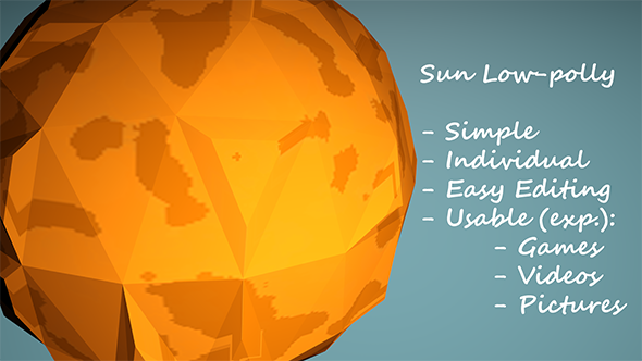 Low-Poly Sun - 3DOcean Item for Sale