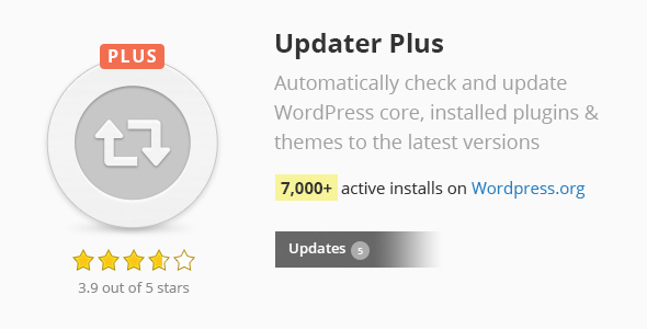 Updater Plus - CodeCanyon Item for Sale