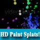 HD Colourful Paint Splat on Black Background - VideoHive Item for Sale