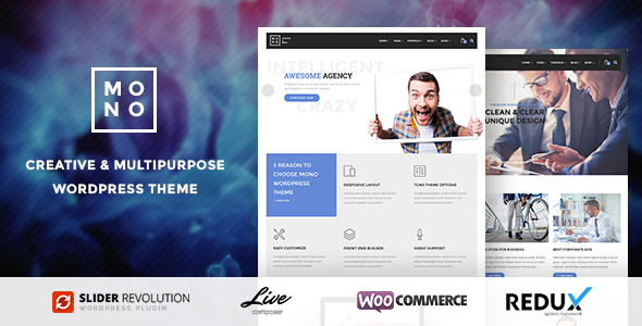 Mono – Creative Multipurpose WordPress Theme
