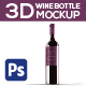 Saint Bordeaux - 3D Wine Bottle Mockup - GraphicRiver Item for Sale
