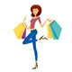 Woman with Shopping Bags - GraphicRiver Item for Sale