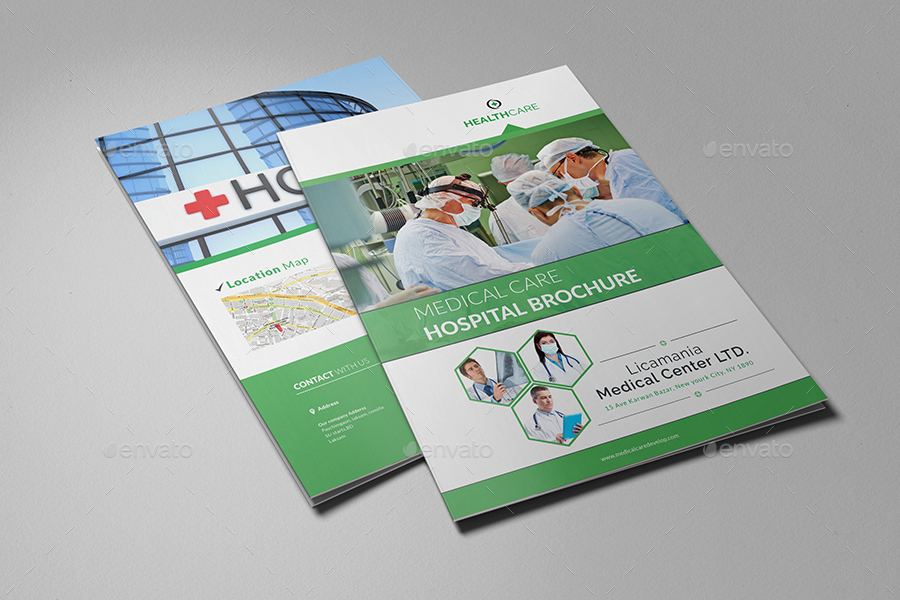 Medical center hospital brochure template by al mamun for Hospital menu template