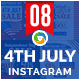 Fourth Of July Instagram Templates - 8 Designs - Images Included - GraphicRiver Item for Sale