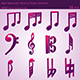 3D Musical Notes Symbols (55 pcs) - GraphicRiver Item for Sale