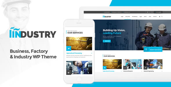 Industry – Business, Factory & Industry WordPress Theme
