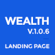 Wealth - Responsive Landing Page Templates Nulled
