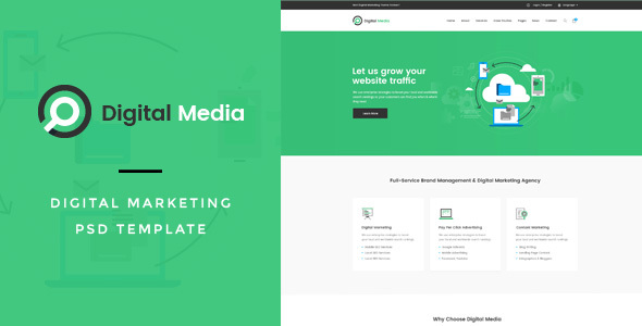 Digital Media : Digital Marketing PSD Template
