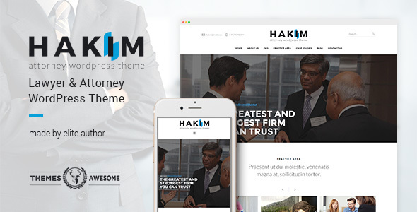 Attorney and Lawyer WordPress Theme – Hakim