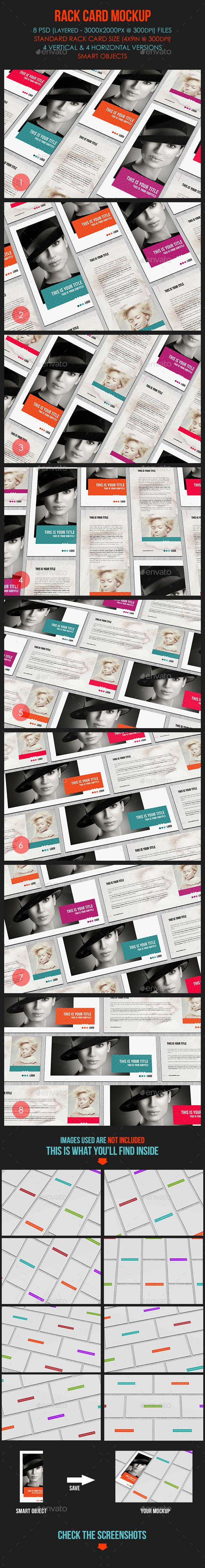 rack card mockup miscellaneous print - Standard Rack Card Size
