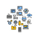 Computer Technology Thin Line Icons - GraphicRiver Item for Sale