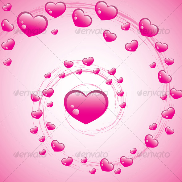 Valentines Swirl - Backgrounds Decorative