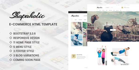 Shopaholic – Responsive Multipurpose eCommerce HTML5 Template