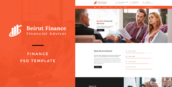 Beirut : Finance PSD Template - Business Corporate