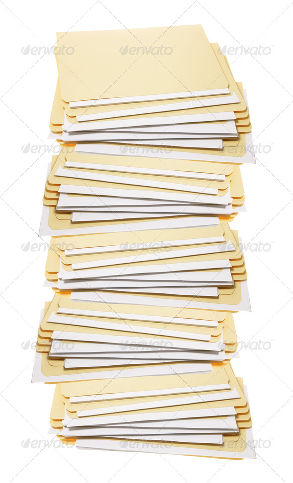 Stack of Manila Folders - Stock Photo - Images