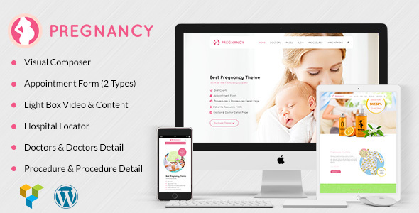 Pregnancy Medical - Health, Medical WordPress Theme for Gynecologist