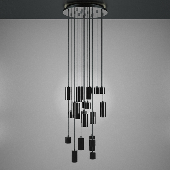 Modern Big Ceiling Lamp - 3DOcean Item for Sale