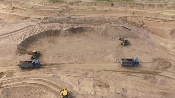 Aerial View Of Sand Quarry by a_medvedkov | VideoHive