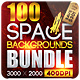 100 Space Backgrounds [BUNDLE] - GraphicRiver Item for Sale