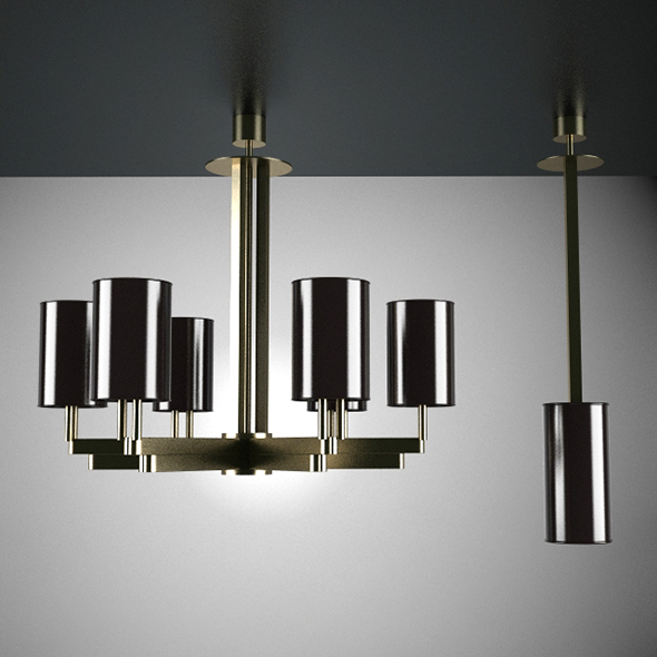 Two Classic Ceiling Lamp - 3DOcean Item for Sale