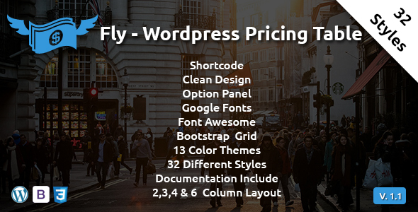 Fly - Wordpress Pricing Table - CodeCanyon Item for Sale