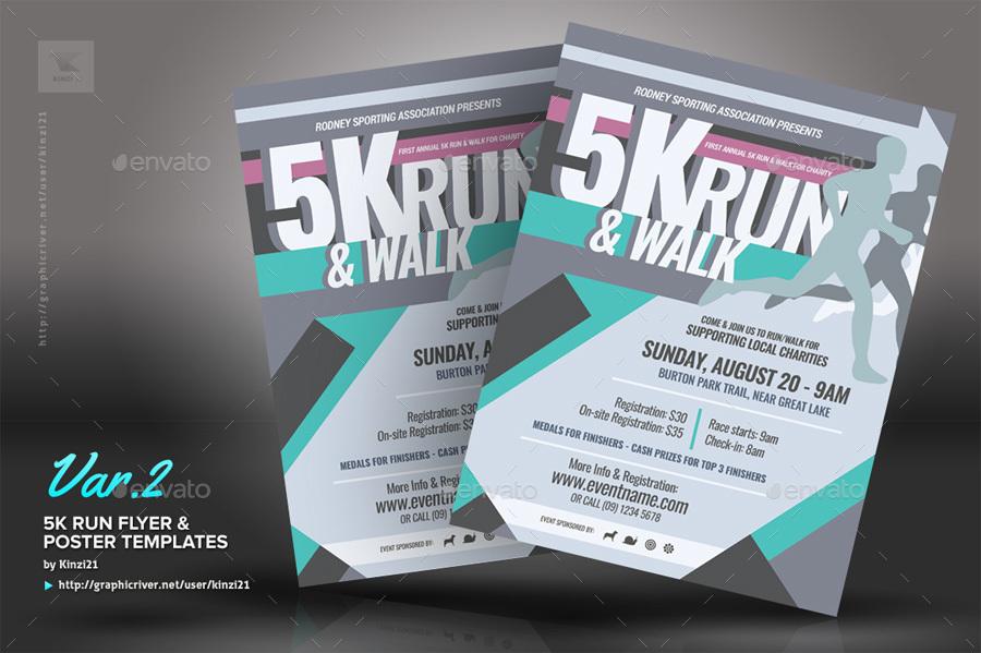 5k flyer template