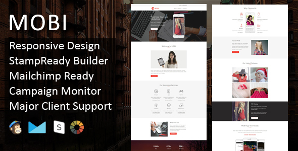 MOBI – Multipurpose Responsive Email Template + Stampready Builder