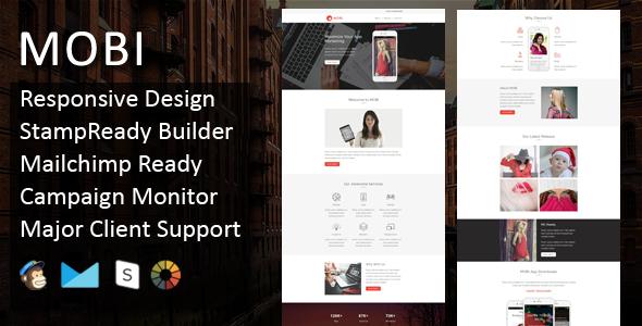 MOBI - Multipurpose Responsive Email Template + Stampready Builder