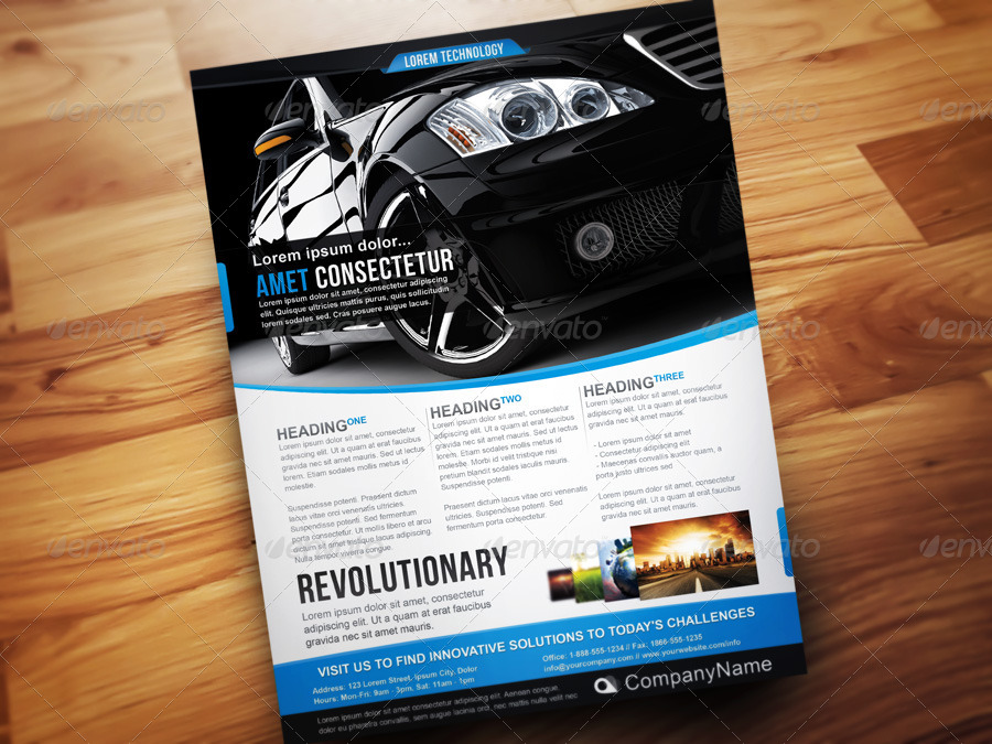 Corporate Technology Flyer Template By DesignFathoms GraphicRiver - Technology brochure template