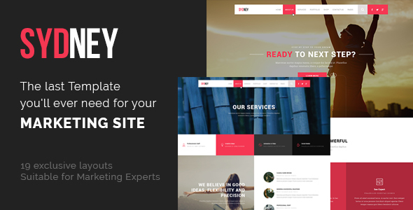 Sydney – SEO, Digital Marketing, Social Media Template