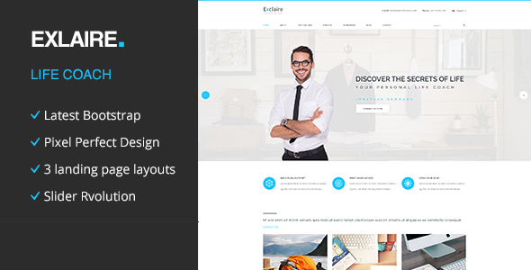 Exclaire – Personal Life Coach HTML template