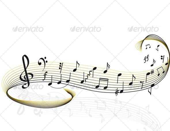 Note staff - Flourishes / Swirls Decorative