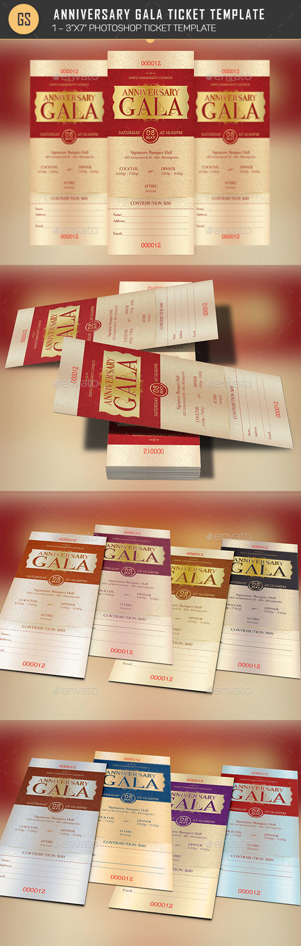 GraphicRiver  Dinner Tickets Template
