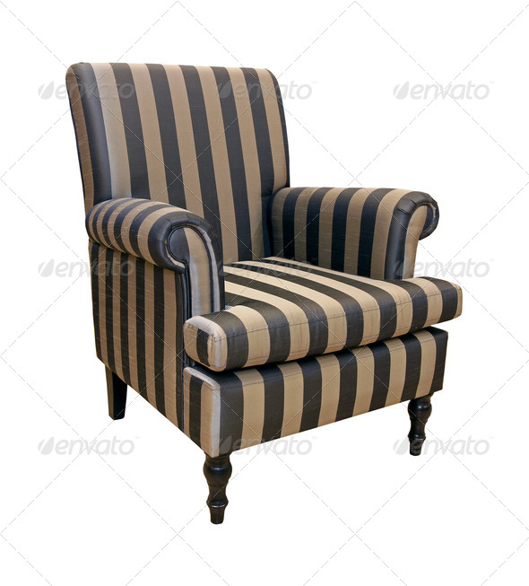 Stripe armchair - Stock Photo - Images