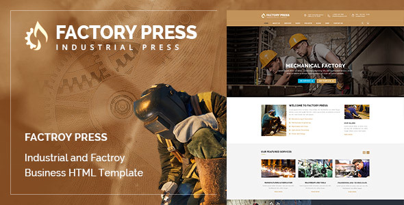 Factory Press – Factory and Industry HTML Template