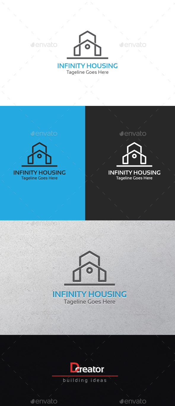 Infinity Housing Logo By Stocklogos Graphicriver
