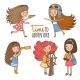 Explorer Girls - GraphicRiver Item for Sale