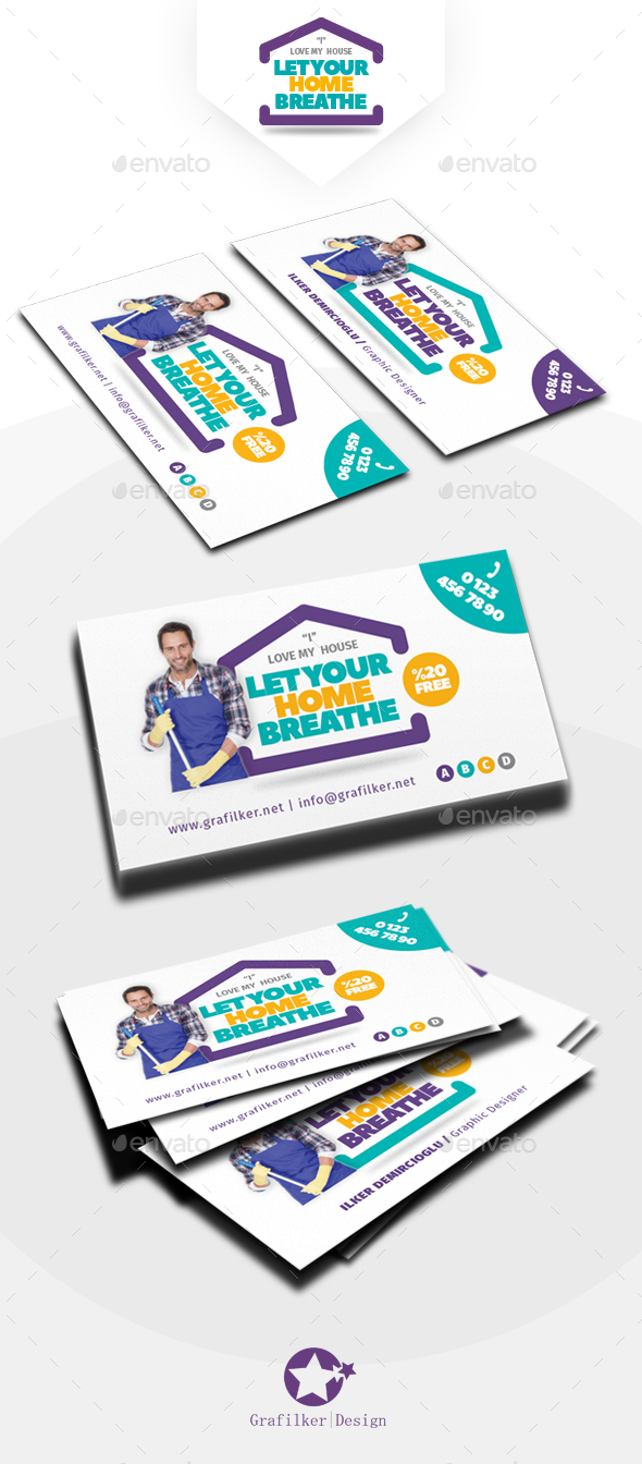 house cleaning business card templates by grafilker