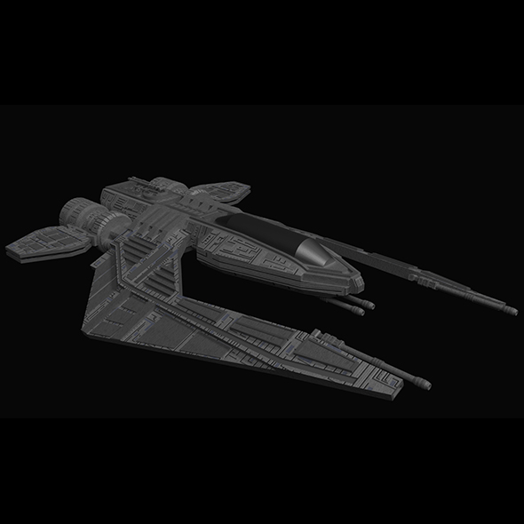 Spaceship Fighter - 3DOcean Item for Sale
