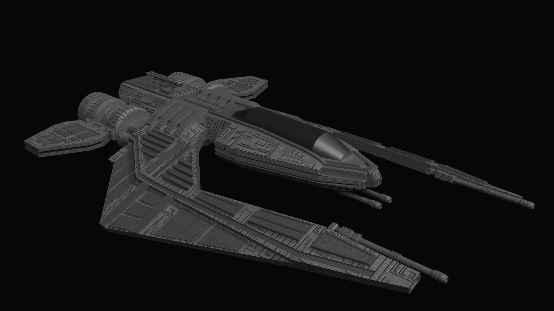 Spaceship Fighter By Xepphirestudios 3docean