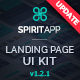 SpiritApp Landing Page UI Kit & Premade Templates (Dark Style) - GraphicRiver Item for Sale