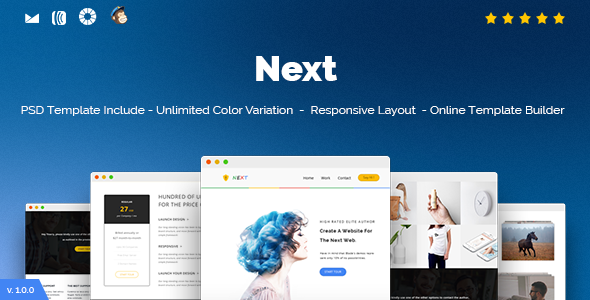 Next – Responsive Email and Newsletter Template