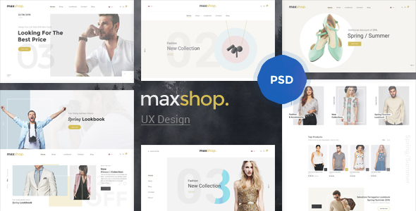 Maxshop - Elegant Fashion PSD Template - Retail PSD Templates