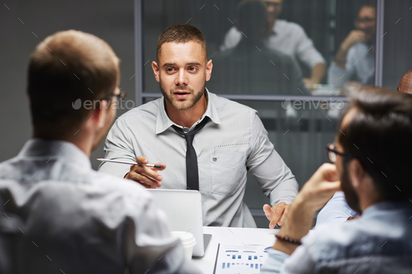 Colleagues talking - Stock Photo - Images