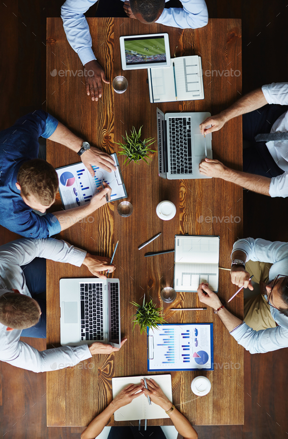 Meeting by table - Stock Photo - Images