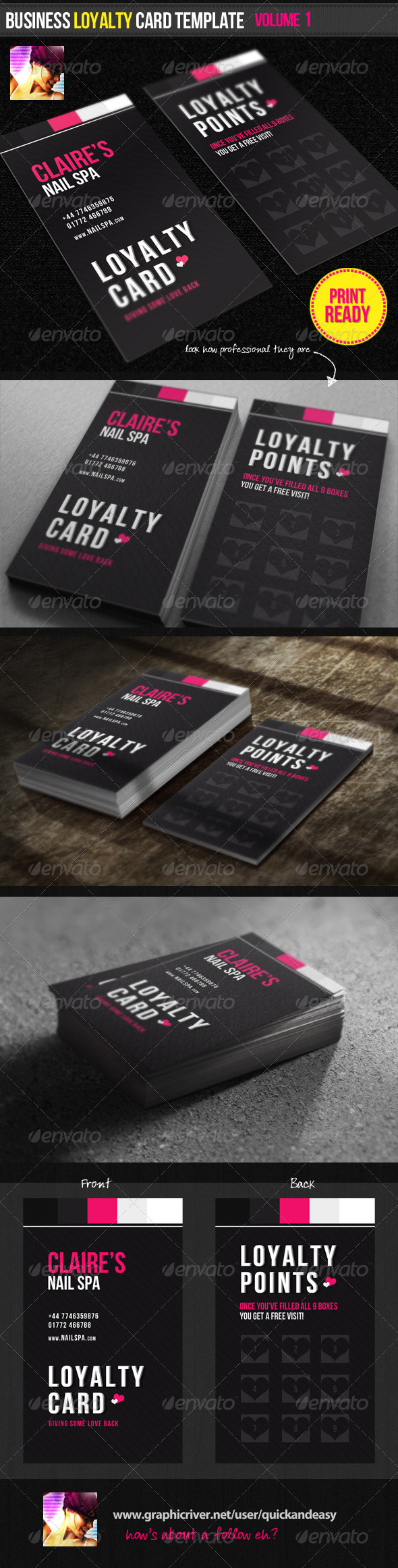 Business Loyalty Card Template Vol.1 - Loyalty Cards Cards & Invites