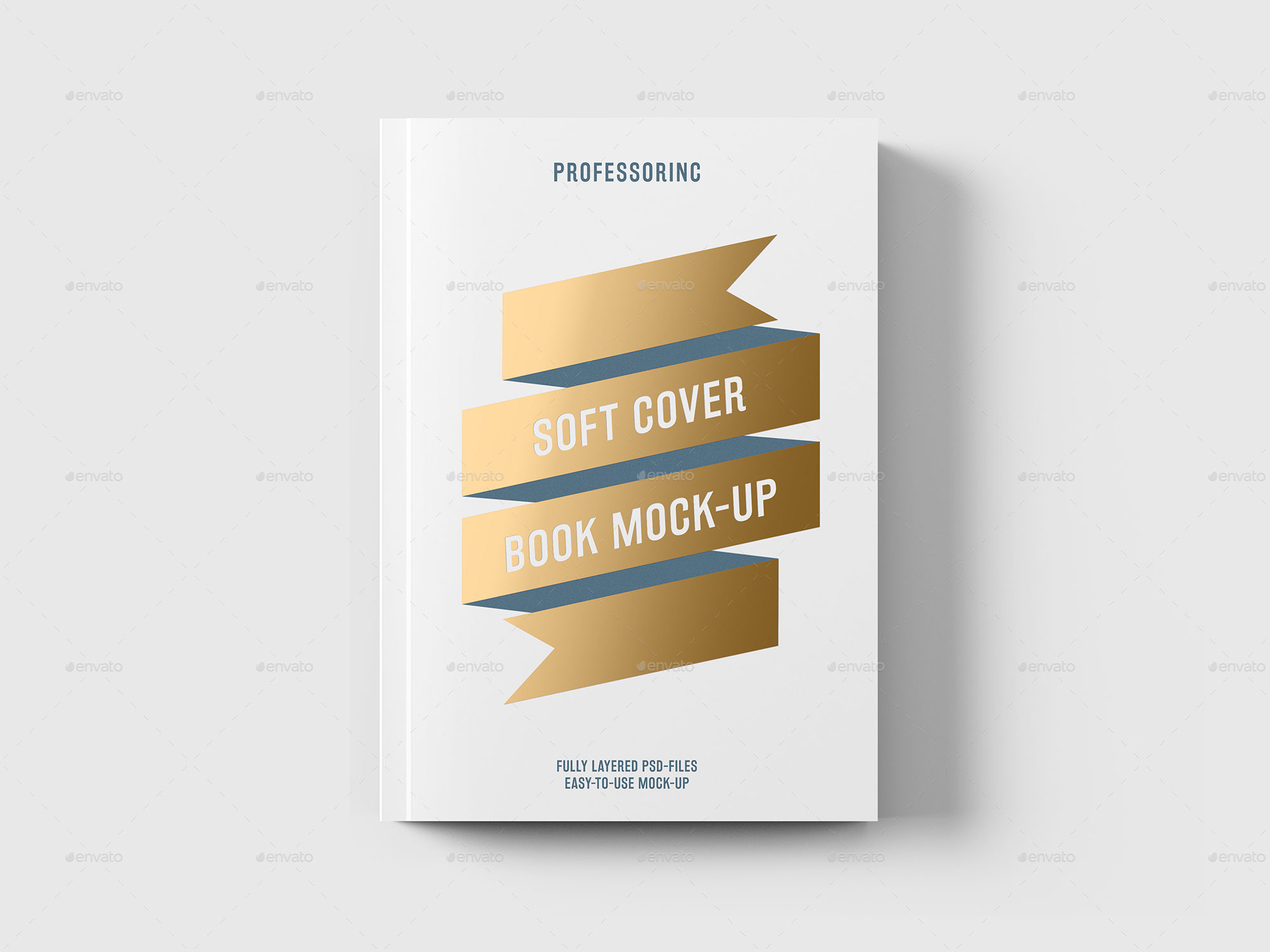 Cover Up Book ~ Soft cover book with foil stamping mock up by professorinc